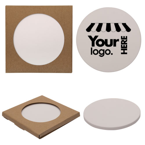 Round Absorbent Stone Coaster