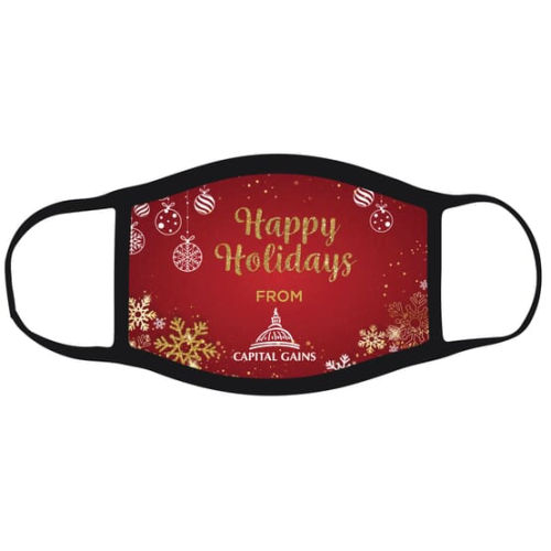 2 Ply Sublimated Polyester Holiday Face Mask