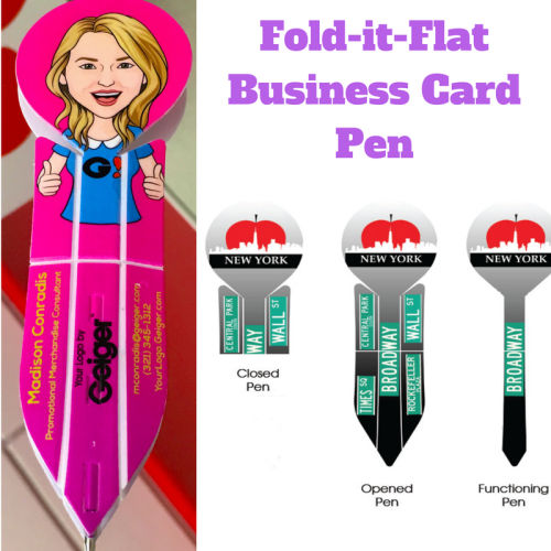 Fold-it-Flat™ Business Card Pen