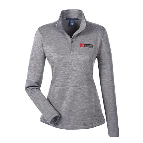 Devon & Jones Ladies' Newbury Mélange Fleece Quarter-Zip