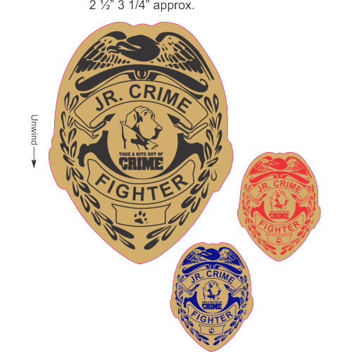 Jr. Crime Fighter Badge Sticker