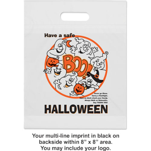 Halloween Bags (die-cut handle) - White