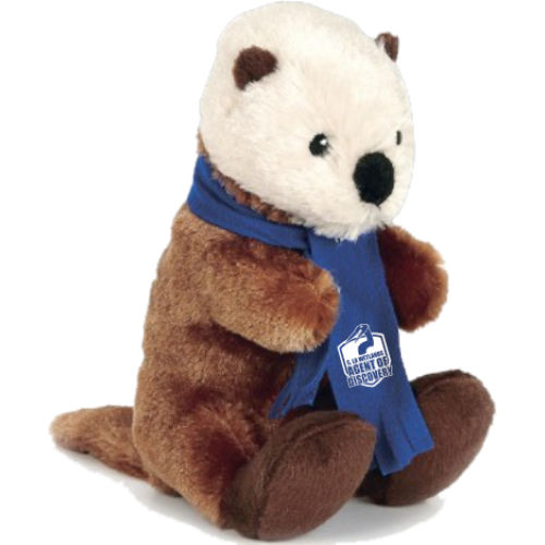 "Otter - 8"" with scarf"