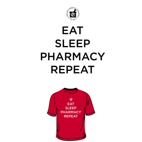 District Women's Fitted Tee - Eat, Sleep, Pharm
