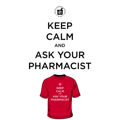 District Women's Fitted Tee - Keep Calm, Ask Pharm