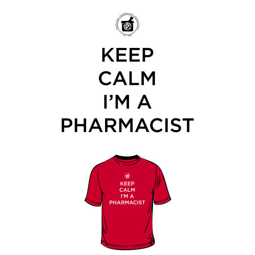 District Women's Fitted Tee- Keep Calm, I'm a Pharm