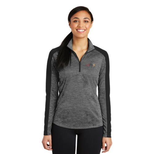 Sport-Tek Ladies PosiCharge Electric Heather Colorblock 1/4-Zip