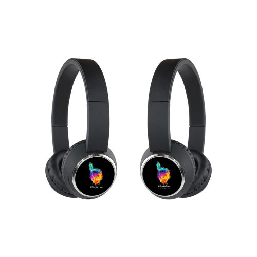 Beebop Wireless Headphones - Full Color #SameHere Hand Logo