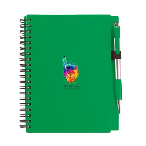 Plastic Cover Notebook w/Pen - Full Color #SameHere Hand Logo