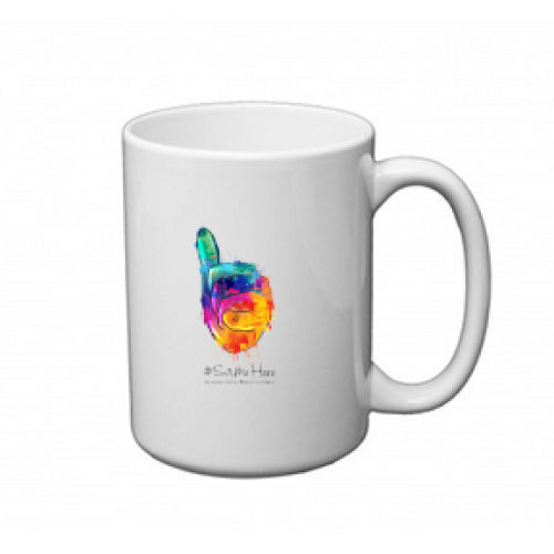 15 oz. Mug - Full Color #SameHere Hand Logo