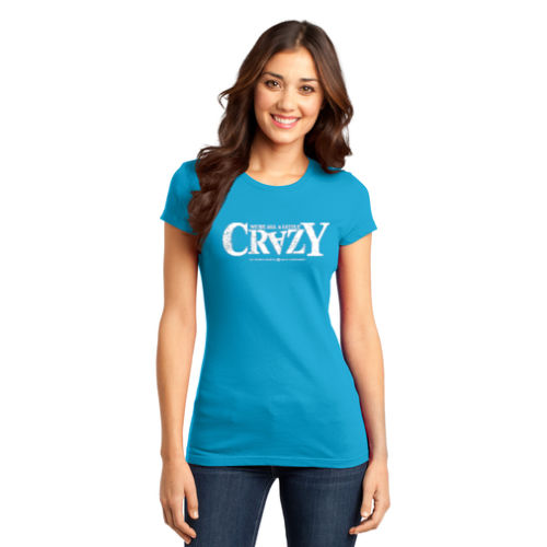 District Women's Fitted Very Important Tee - 'Crazy' Logo