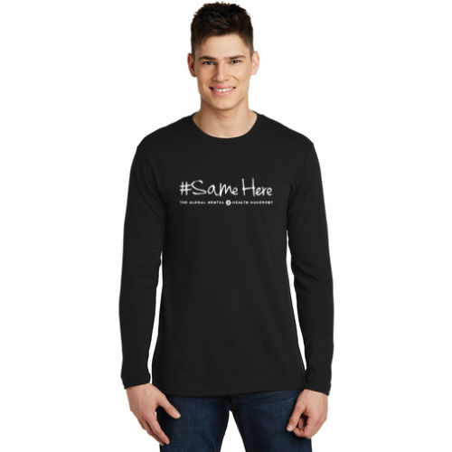 District Long Sleeve Tee - #SameHere Text Logo