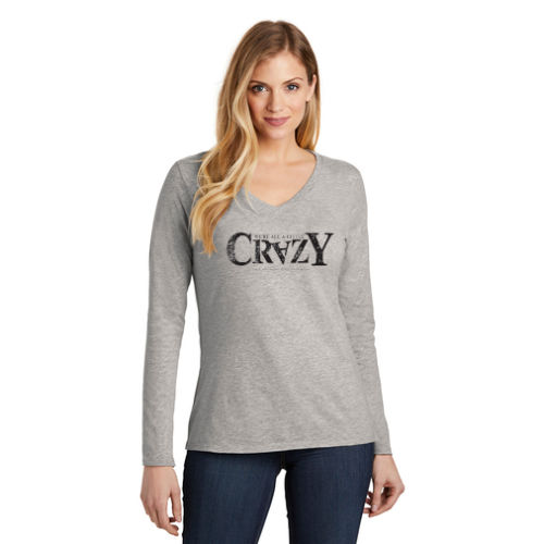 District Women's Very Important Long Sleeve Tee - 'Crazy' Logo
