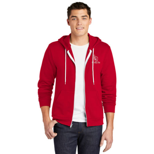 American Apparel Full Zip Hoodie - 1-Color #SameHere Hand Logo