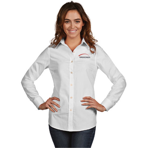 Ladies' Antigua Long Sleeve Button Down